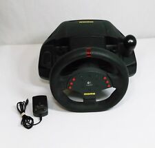 AWESOME Logitech Momo Force Feedback Racing Steering Wheel w Power Supply TESTED