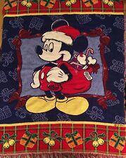 Mickey Mouse Santa Disney Christmas Throw Blanket 56 x 44