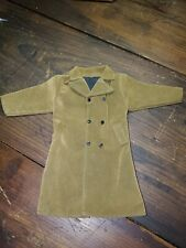 Brown Suede Looking Long Dress Coat Accessories for 12