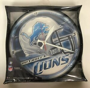 Detroit Lions NFL Wall Clock Wincraft Sports 2009 Helmet Logo NEW