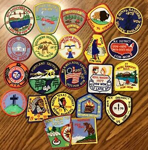 Vintage Royal Rangers Patch Lot of 22 Pow Wow 10th Anniversary ALL 1970s