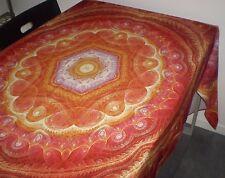 TOVAGLIA , tablecloth 145 x 220 cm ,100 % cotone , stampata digitale , arancio