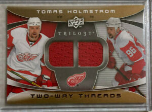 2008-09 Trilogy Two Way Threads Tomas Holmstrom Dual Jersey Detroit Red Wings