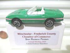 Matchbox 2005 Winchester VA Chamber of Commerce 1987 Corvette Car Nu in Mint Box