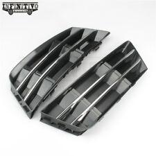 L+R Sides Front Bumper Fog Light Grille W/ Chrome Panel For AUDI A4 B9 8W 16-17