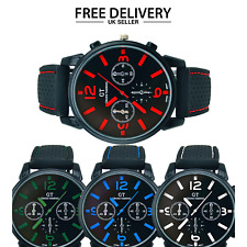 Luxury Geneva Watch Retro Design Leather Band Analogue Alloy Quartz UK Brand New
