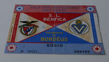 Ticket for collectors EC Benfica Lisboa Girondins Bordeaux 1986 Portugal France