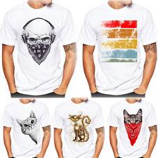 Hombre Mujer Impresión Camisetas Camisa de manga corta algodón blusa CAT dibujos