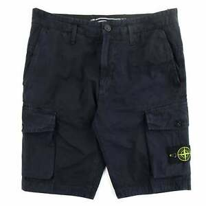 Stone Island L07WA 'OLD' Dye Treatment Bermuda Shorts Navy V0120