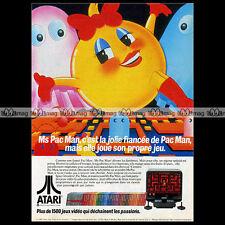 MISS MS PAC-MAN ATARI VCS 2600 Vintage Video Game 1982 : Pub Advert Ad #A1329