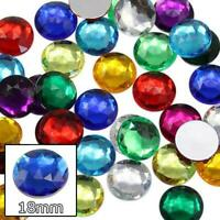 14mm Crystal Clear AB H702 Flat Back Acrylic Rhinestones Cosplay Plastic Gems Embelishments Jewelry Making Crafts Scrapbooking Costume Jewels 20 Pieces