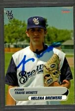 2006 Choice #28 Travis Wendte Helena Brewers Baseball Signed Autograph (D16)