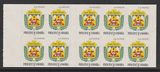 French Andorra - SG F537 x 10 booklet pane - u/m - 1998 no value 3f - Self ad.