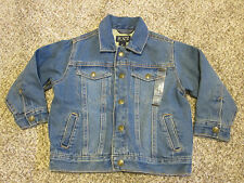 NEW The Children's Place Denim Jean Trucker Jacket Cotton Jersey Lined 4T