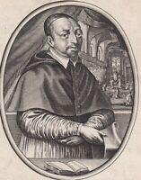 Portrait XVIIe De Bérulle Cardinal Oratoire Homme D'Etat Marie Médicis Moncornet