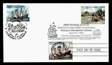 DR WHO 1992 FDC JOINT ISSUE ITALY COLUMBUS 1ST VOYAGE COMBO  f30871
