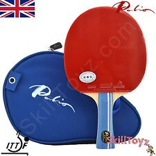 Palio 2 Star Expert Table Tennis Bat CJ8000 rubbers & Case + FREE protector!  UK