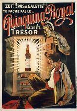 """""""QUINQUINA ROYAL"""" Affiche originale entoilée  Litho OGE vers 1902   104x143cm"""