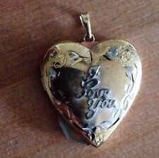 """⭐️""""I LOVE YOU""""⭐️Pendant/Locket/Charm/Necklace 10k Yellow Gold"""