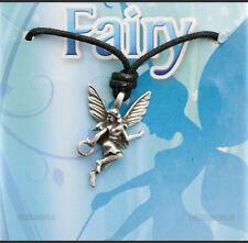 Colgante + cordón campanita fairy estaño protección E 7988