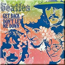 Beatles Get Back  / Don't Let Me Down (pastel) steel fridge magnet (ro)