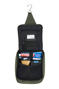 SNUGPAK Essential Wash Bag BLACK/GREEN Army Military