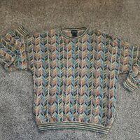 Men's Tosani Coogi Style 3D Knit  Vintage Sweater Canada Size XL