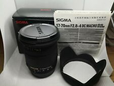 """Sigma 17-70mm f/2.8-4.5 DC Macro Lens w/Box For Pentax """"Excellent+"""" #20071 Japan"""