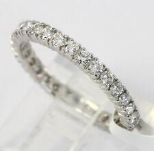 Platinum diamond eternity band wedding ring 31 round brilliants .94CT size 7 new