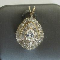5.05 Carats 14K Gold Diamond Pendant Center=.65 Carat F-VS1  Value=$13,500
