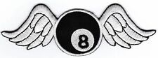 ao78 Pool Billard 8 Ball Flügel Aufnäher Bügelbild Patch Rockabilly Applikation