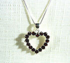 2.40ct Natural Garnet, Heart Shaped 925 Sterling Silver Pendant & Chain