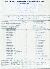 CHELSEA RESERVES v BOURNEMOUTH RESERVES 1975/6