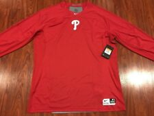 fd2383f88 Nike Men s Philadelphia Phillies Pro Hypercool Fitted Jersey Shirt 2XL XXL  Red