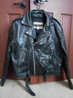 MAN'S SIZE 44 VINTAGE STYLE OPEN ROAD LEATHER MOTORCYCLE JACKET