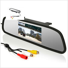 "4.3""Color LCD Mirror Monitor DVD Display Screen For Car Rear View Reverse Camera"