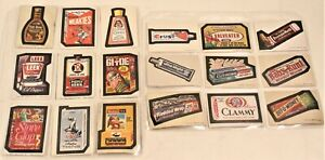 WACKY PACKAGES Sticker Cards Lot of 18 Series 2 - 13 Topps 70s Vintage VTG Rare