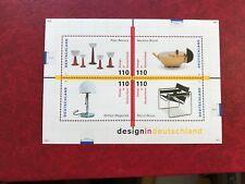 Germania BRD FRD Gomma integra, non linguellato 1998 minisheet design Teiera Lampada da tavolo in vetro Sedia Wassily