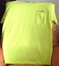 "YELLOW GILDAN ULTRA COTTON POCK.T-SHIRT>""INTERNAT'L PAPER"">L >NEW>FREE U.S SHIPP"