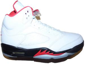 2020 Jordan Fire Red 5 (Size 9) DA1911-102 Read Description