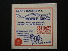 LENNY ROGERS D.J. MOBILE DISCO 14 SALEHAM ST VICTORIA PARK 3615627 COASTER