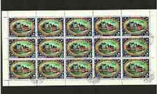 LIBERIA POSTAGE SHEET - APOLLO 14 MOON LANDING - LEAVING CAP - 1971 USED STAMPS
