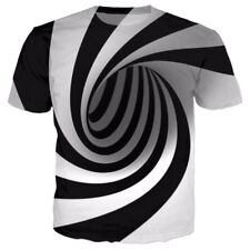 Womens/Mens Colorful Tie-Dye Hypnosis Funny 3D Print Casual T-Shirt Short Sleeve