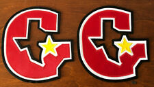 Lot of 2 USFL Jim Kelly Houston Gamblers Full Size Jersey Patch Emblems New