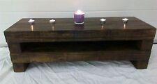 80cm Dark Chunky Rustic Pine Plasma TV Stand Unit Cabinet Table Shabby Chic