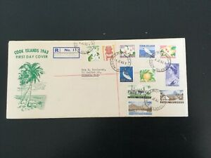 COOK ISLANDS 1963 Pictorial Definitives to 5s Registered FDC (C189)