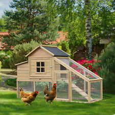 """69""""  Large Wooden Outdoor Backyard Chicken Coop Hen Hutch Cage w/ Nesting Box"""