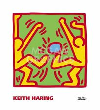 KH14 by Keith Haring Art Print Kick Blue Ball Soccer Player Pop Poster 22x20