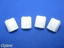 LEGO PART 30602 WHITE SLOPE CURVED 2 X 2 LIP NO STUDS FOR 4 PIECES