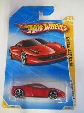 2010 Hot Wheels FERRARI 458 ITALIA (RED)